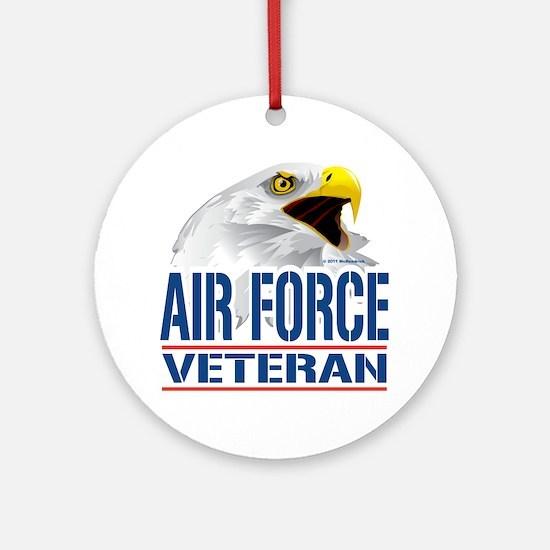 Air-Force-Eagle-Veteran Round Ornament