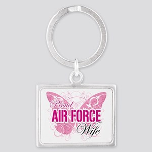 Proud-Air-Force-Wife Landscape Keychain