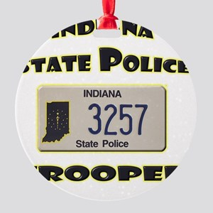indianaspplate Round Ornament
