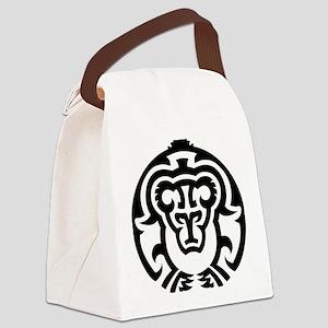 Tribal Bear Canvas Lunch Bag