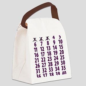 Countdownpurplecross Canvas Lunch Bag