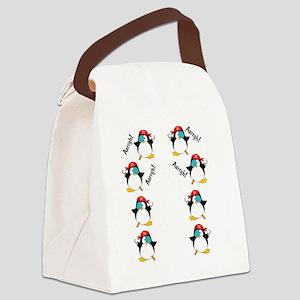 piratepenguinarrghflipflop Canvas Lunch Bag