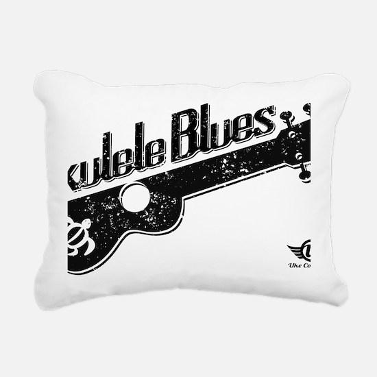 Ukulele Blues Rectangular Canvas Pillow