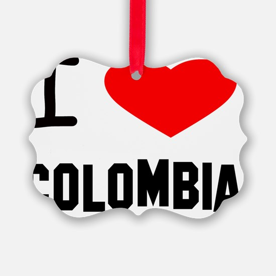 i heart colombia plain Ornament