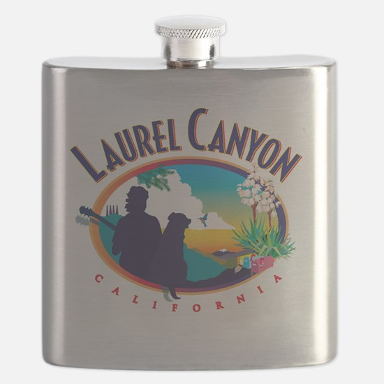 Laurel Canyon Logo Flask