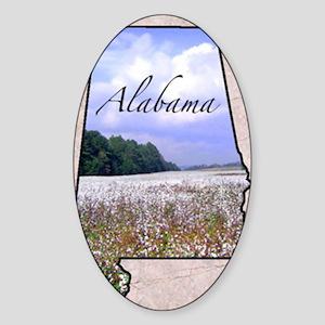 AlabamaMap8 Sticker (Oval)