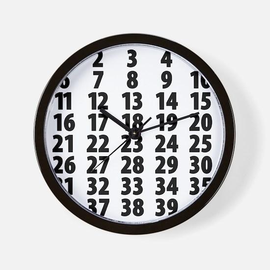Countdownplain Wall Clock