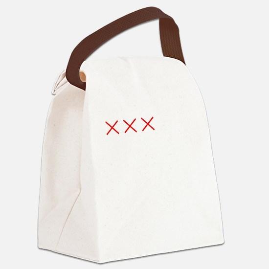 Countdownwhitecross Canvas Lunch Bag