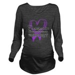 Pancreatic Cancer Long Sleeve Maternity T-Shirt