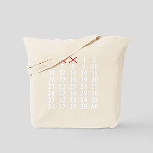 Countdownwhitecross Tote Bag