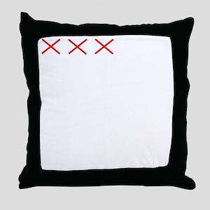 Countdownwhitecross Throw Pillow