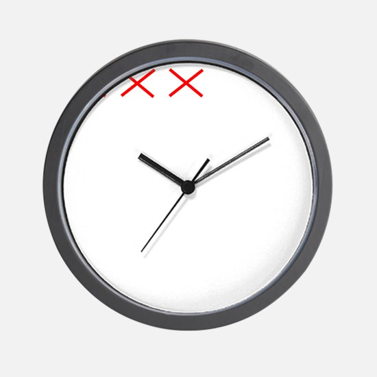 Countdownwhitecross Wall Clock