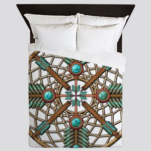 Turquoise Copper Dreamcatcher Queen Duvet