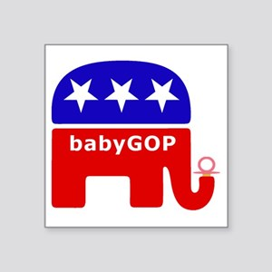 "Baby GOP_Pink Square Sticker 3"" x 3"""