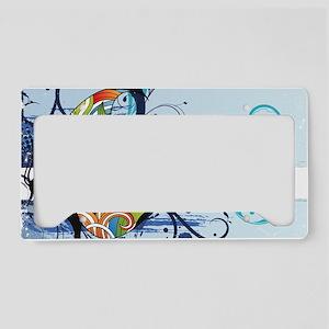 grunge butterfly License Plate Holder