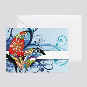grunge butterfly Greeting Card