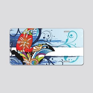 grunge butterfly Aluminum License Plate