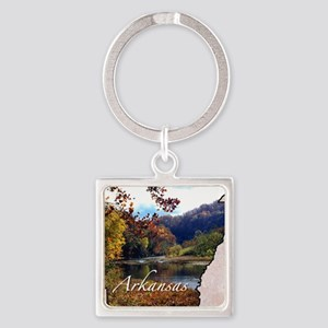 ArkansasMap28 Square Keychain