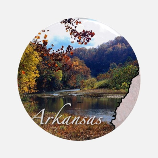 ArkansasMap28 Round Ornament