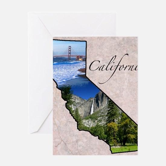 CaliforniaMap28 Greeting Card
