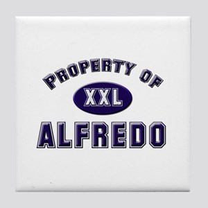 Property of alfredo Tile Coaster