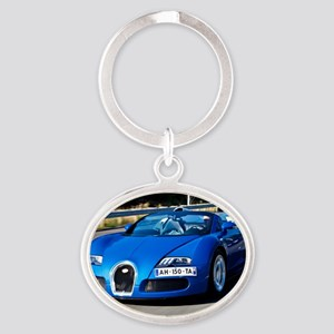 Bugatti9 Oval Keychain