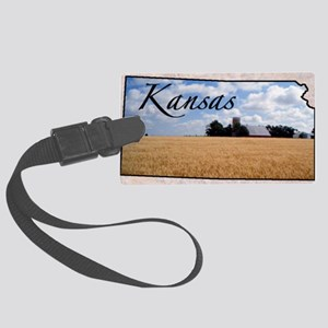 kansasMap28 Large Luggage Tag