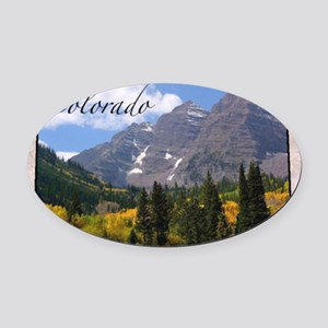 ColoradoMap28 Oval Car Magnet