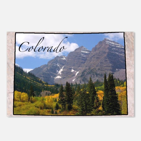 ColoradoMap28 Postcards (Package of 8)