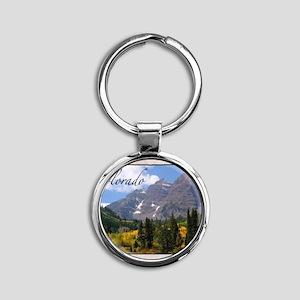 ColoradoMap28 Round Keychain