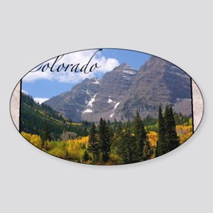 ColoradoMap28 Sticker (Oval)
