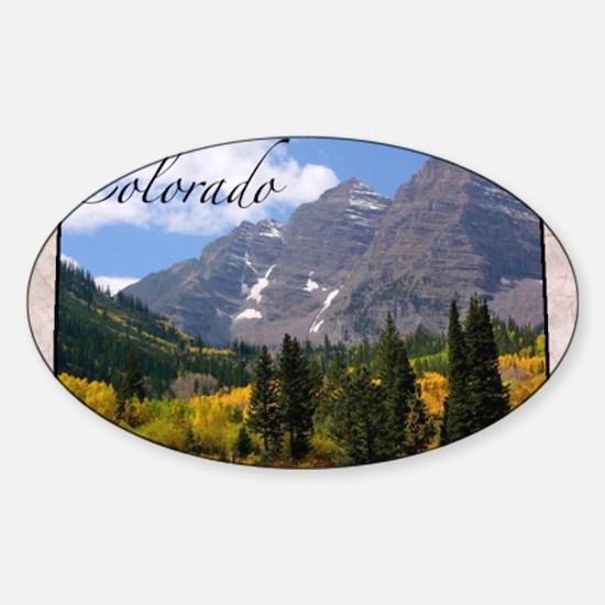ColoradoMap28 Sticker (Oval)