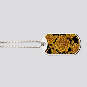black yellow flowers Dog Tags