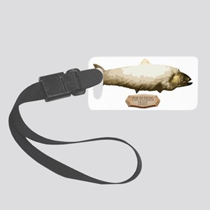 Fur-BearingTrout Small Luggage Tag