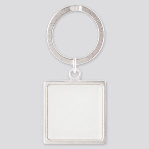 InnsmouthSwimTeam_distressedwht Square Keychain