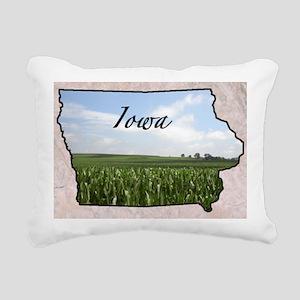 IowaMap28 Rectangular Canvas Pillow