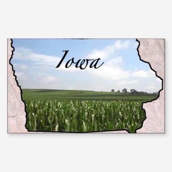 IowaMap28 Sticker (Rectangle)
