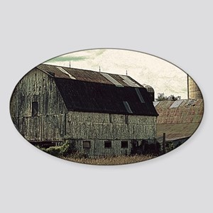 Antique Barn Sticker (Oval)