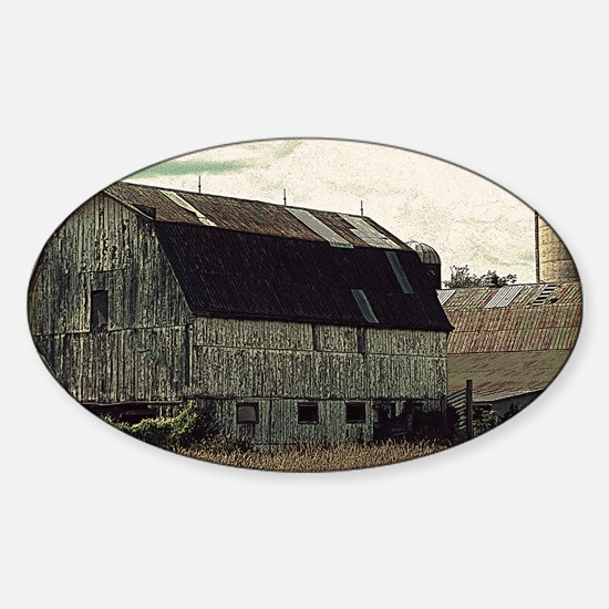 Antique Barn Sticker (Oval)