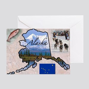 AlaskaMap28 Greeting Card