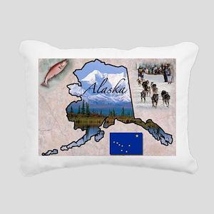 AlaskaMap28 Rectangular Canvas Pillow