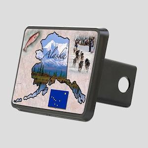 AlaskaMap28 Rectangular Hitch Cover