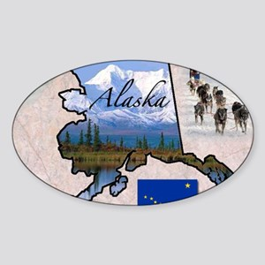 AlaskaMap28 Sticker (Oval)