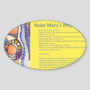 Saint Mary Prayer Mug Wrap Sticker (Oval)