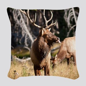 Elk (6) Woven Throw Pillow