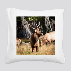 Elk (6) Square Canvas Pillow