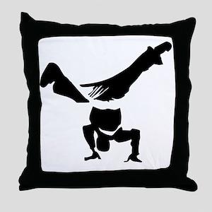 Breakdance Throw Pillow