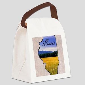 Illinois Canvas Lunch Bag