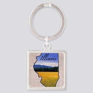Illinois Square Keychain