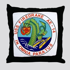 AE-14 USS Firedrake Ammunition Ship M Throw Pillow